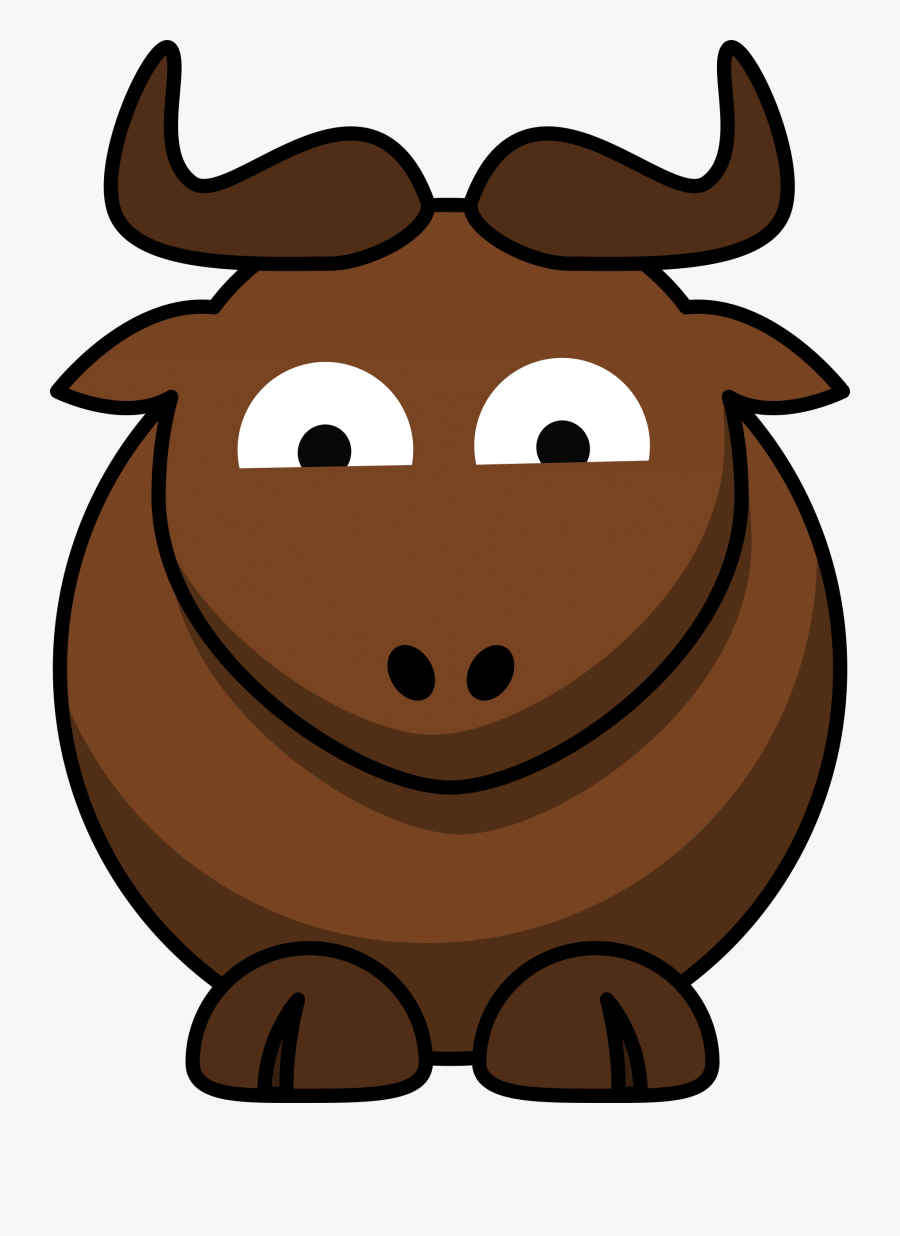 Western Clipart Free Graphics Images - Cartoon Gnu, Transparent Clipart