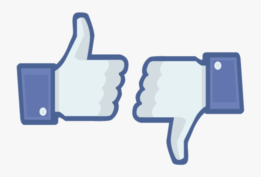 Thumbs Up And Thumbs Down Clipart - Facebook Thumbs Up And Down, Transparent Clipart