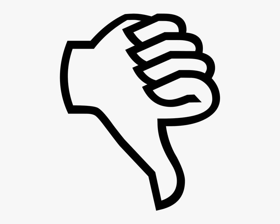 Your Answer Will Be The Wrong One - Thumbs Down Cartoon Transparent, Transparent Clipart
