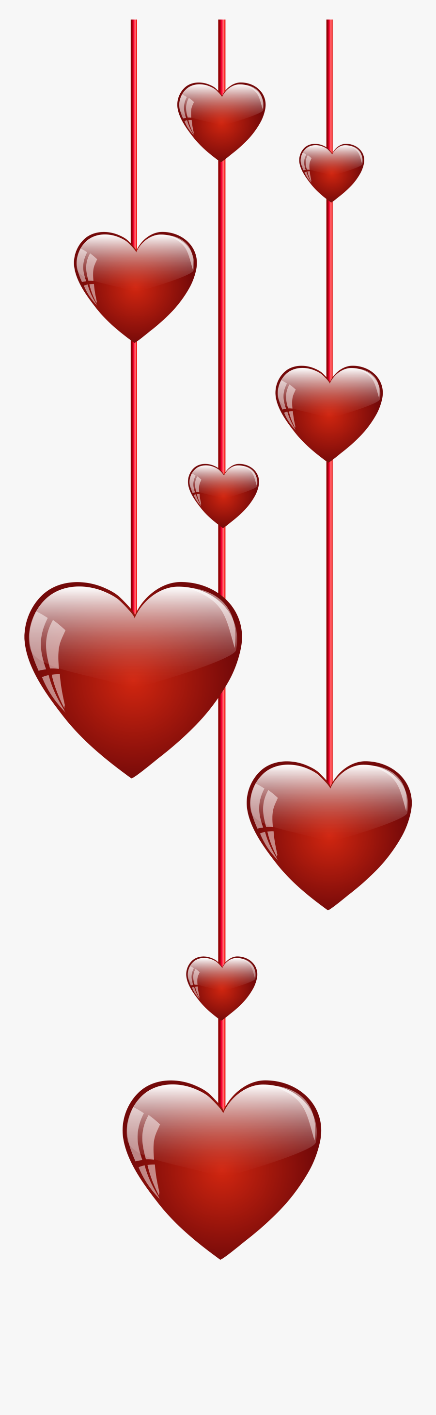 Grinch Heart Clipart - Png String Of Hearts, Transparent Clipart