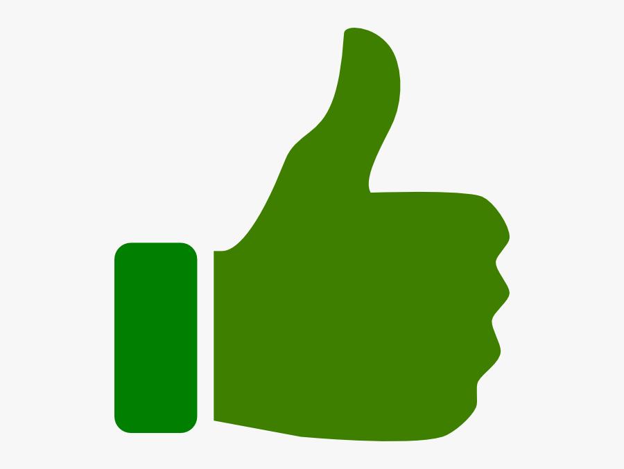Clip Art At Clker - Green Thumbs Up Clipart, Transparent Clipart
