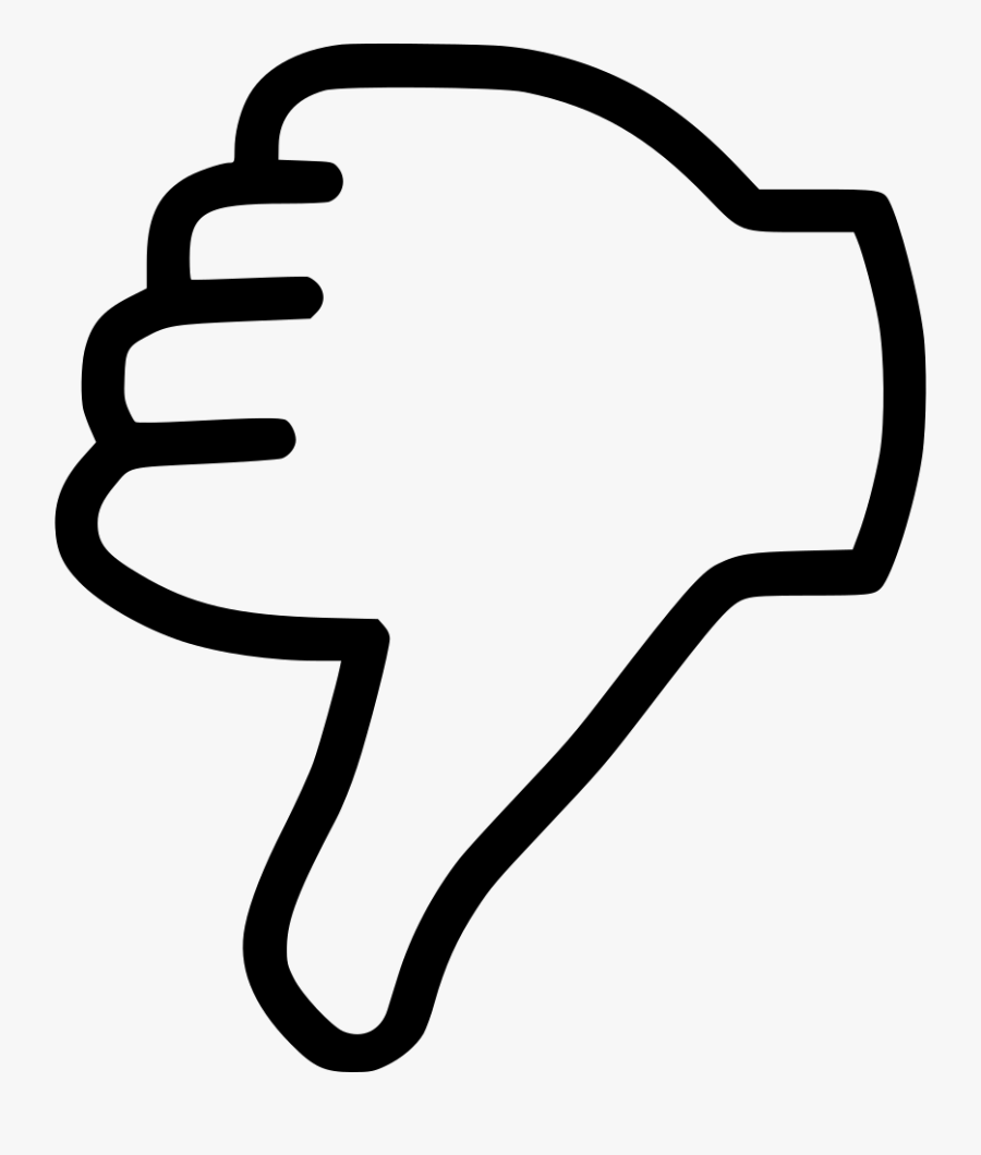 Thumb Signal Computer Icons Clip Art - Thumbs Down Transparent Background, Transparent Clipart