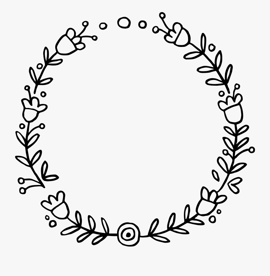 Clip Art Doodle Wreath Floral Wreath Svg Free Free Transparent Clipart Clipartkey