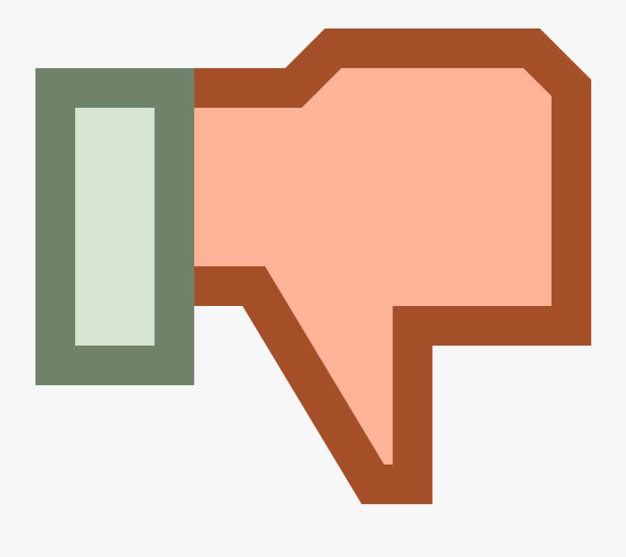 Thumb Down Dislike Free Vector / 4vector - Kid Disagree Clip Art, Transparent Clipart