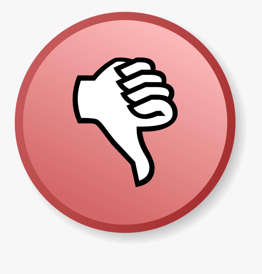 Transparent Retail Salesperson Clipart - Thumbs Down Cartoon Transparent, Transparent Clipart