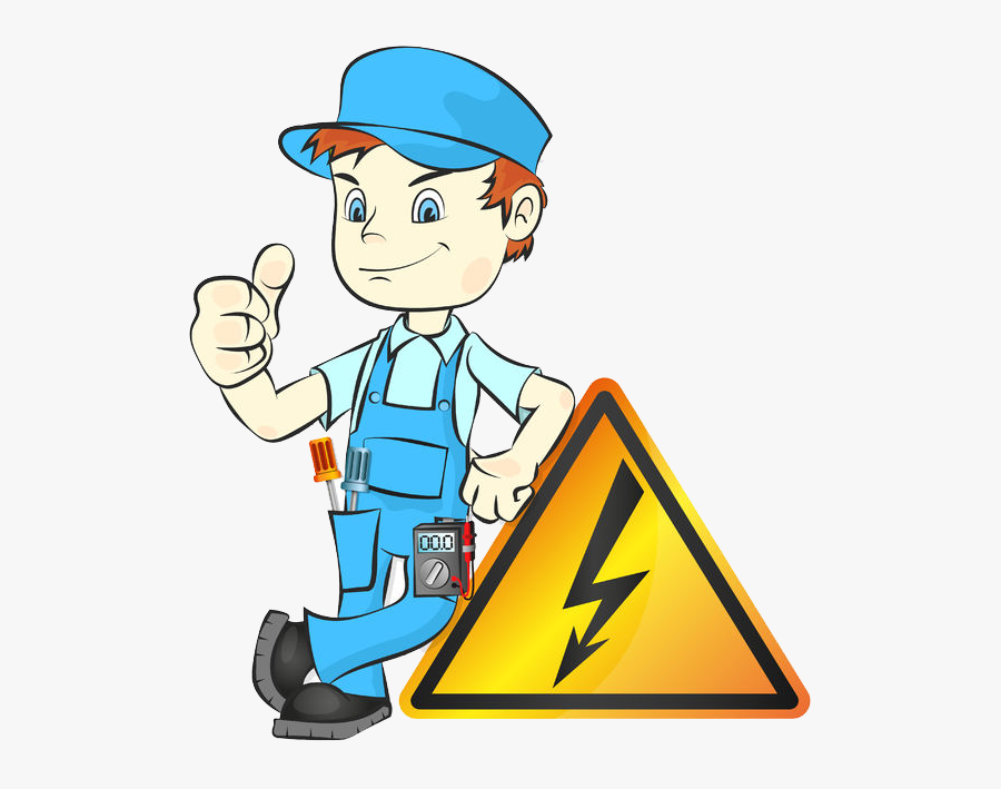 Clipart Science Electricity - Electrical Safety Man, Transparent Clipart