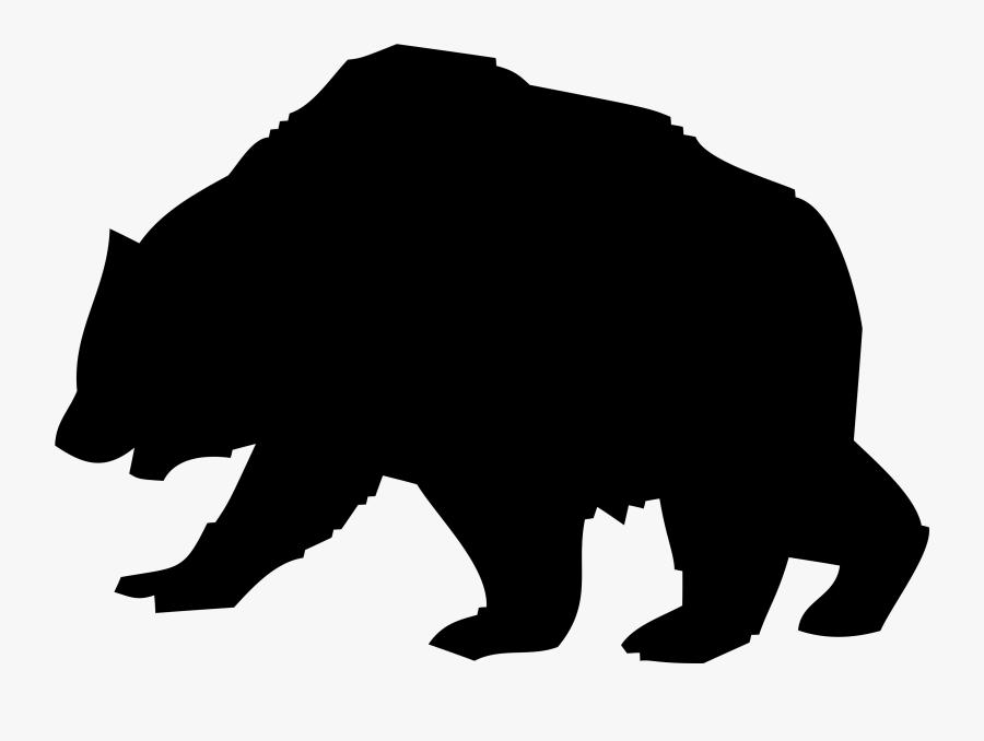 Silhouette Of A Bear - Gambar Profil Kosong Keren, Transparent Clipart