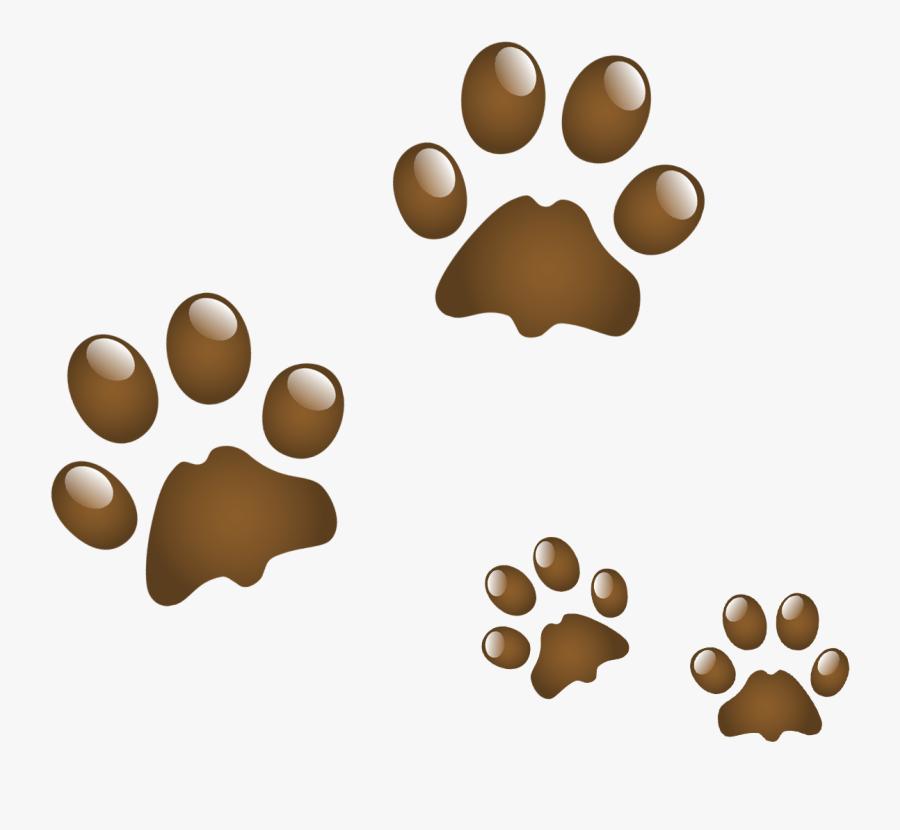 Anjing Clip Art Kucing Transparan Png - Dog Paw Print Animated, Transparent Clipart