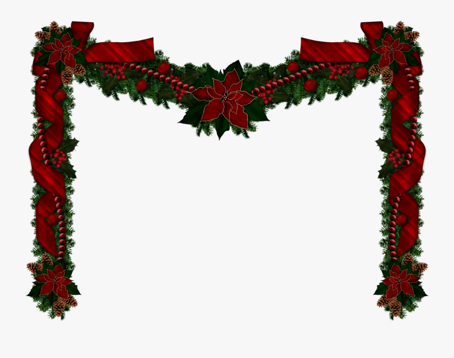 Christmas Garlands, Christmas Clipart, Rustic Christmas, - Transparent Christmas Graphics Png, Transparent Clipart