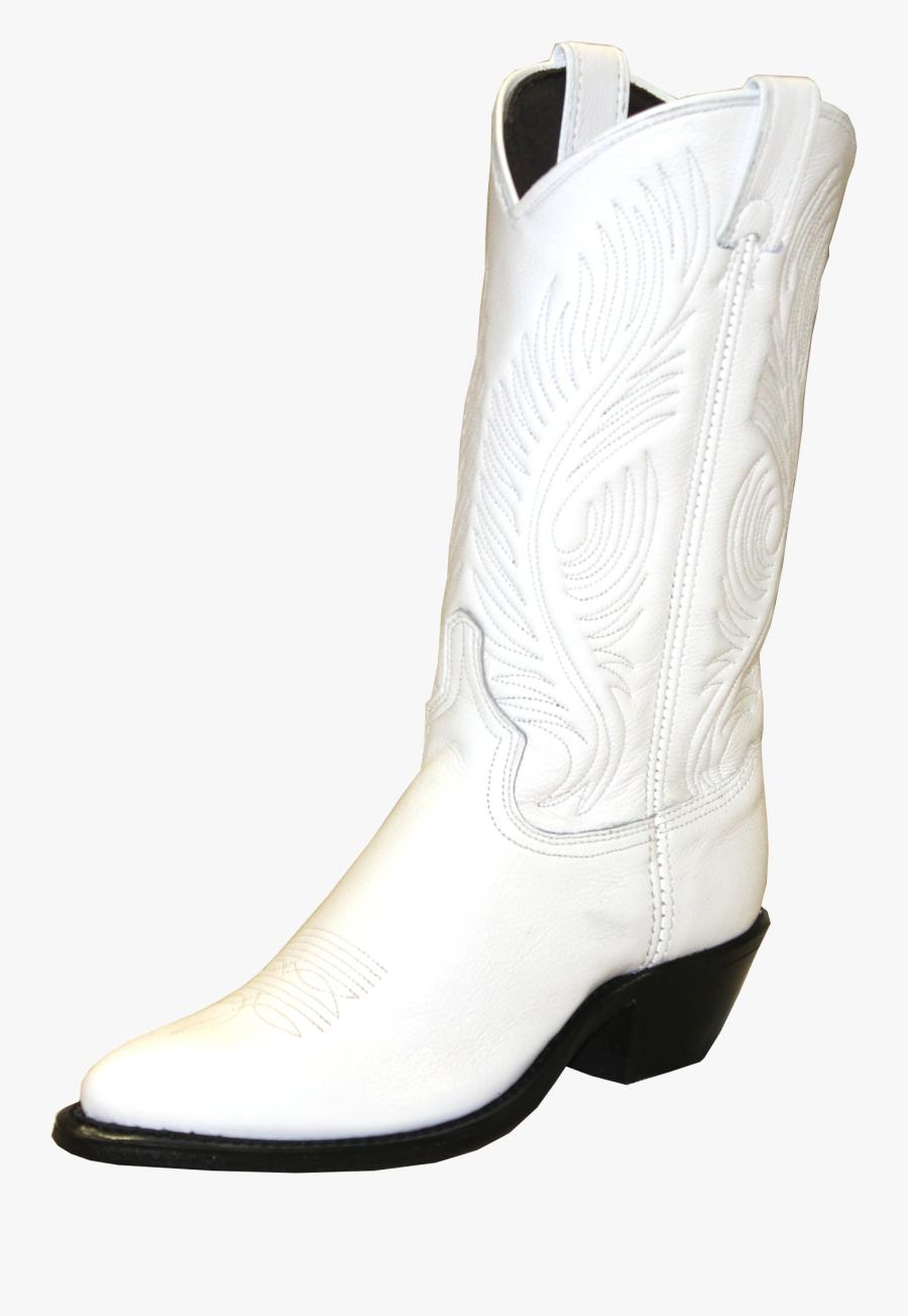 Transparent Boot White - Womens White Cowboy Boots, Transparent Clipart