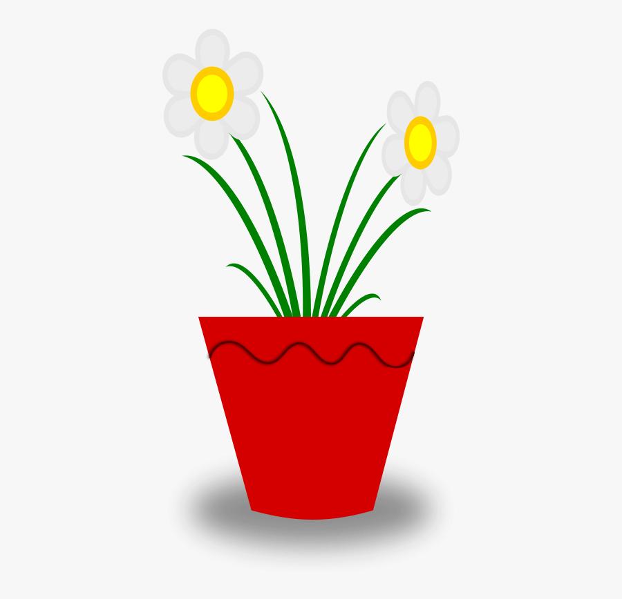 Flower Pot - Plant In Pot Clip Art, Transparent Clipart
