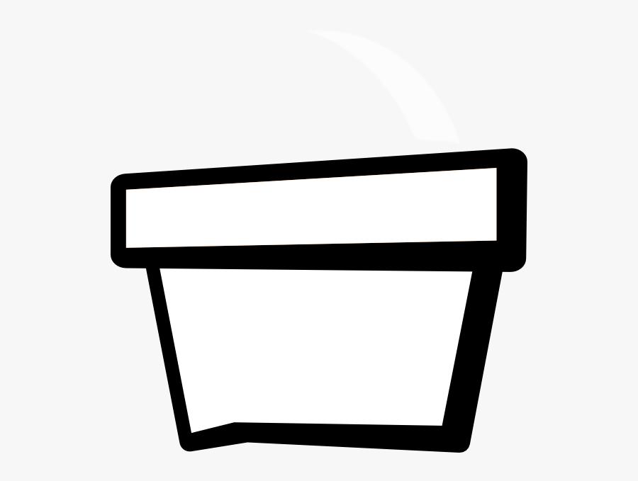 Cartoon Flower Pot Black And White, Transparent Clipart