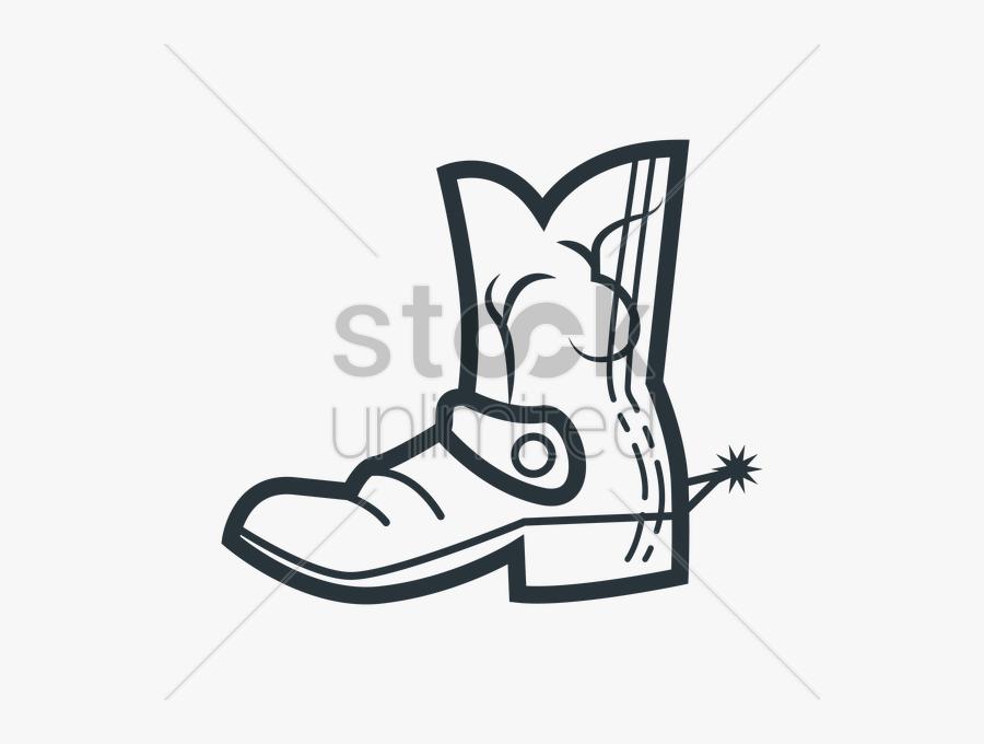 Transparent Cowboy Boot Clipart - Cowboy Boots Square Toe Cartoon, Transparent Clipart