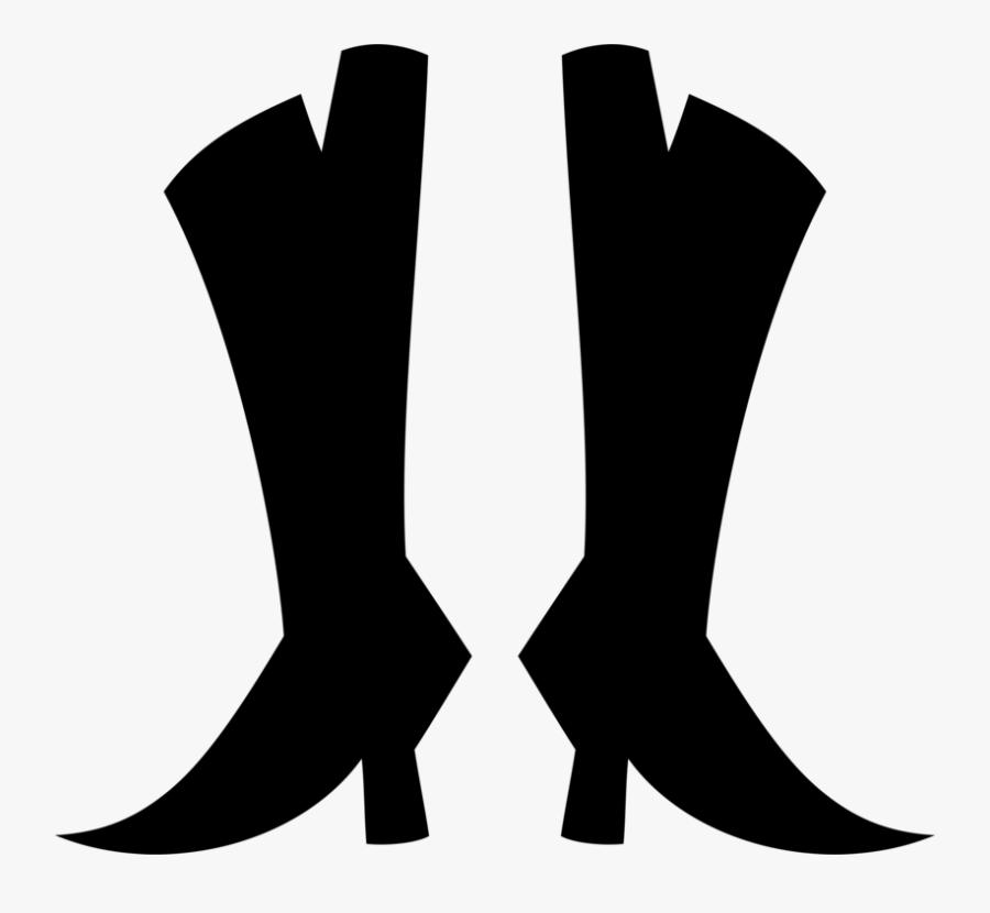 Human Leg,silhouette,leg - Shoe, Transparent Clipart