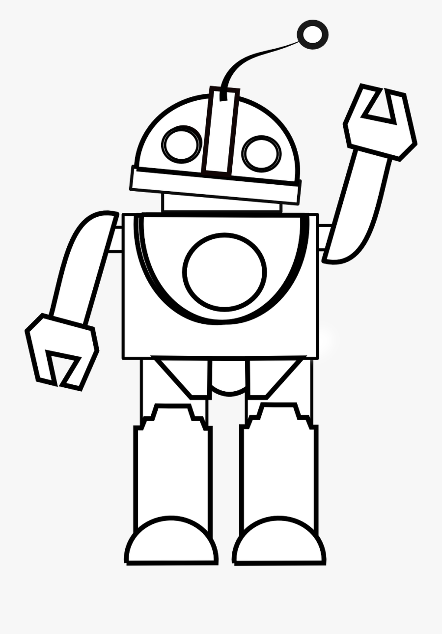 Toy Clipart Black And White - Robot Black And White, Transparent Clipart