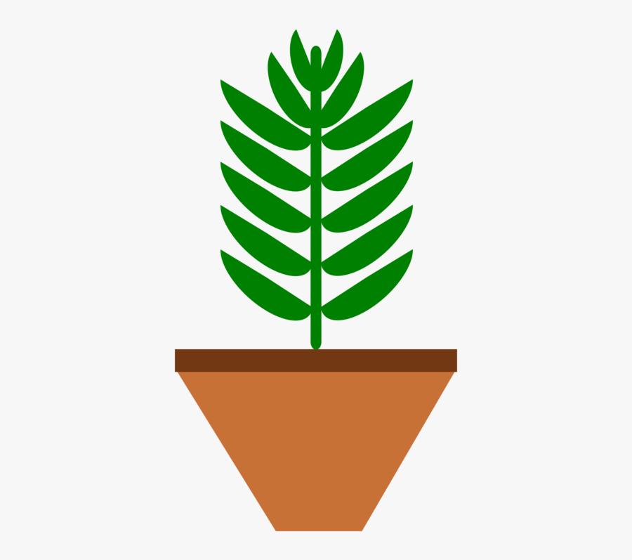 Plant,flower,leaf - Pot Plant Clip Art, Transparent Clipart