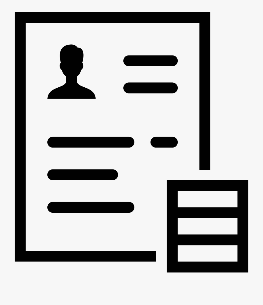 Transparent Resume Clipart Png Resume Icon Png Free