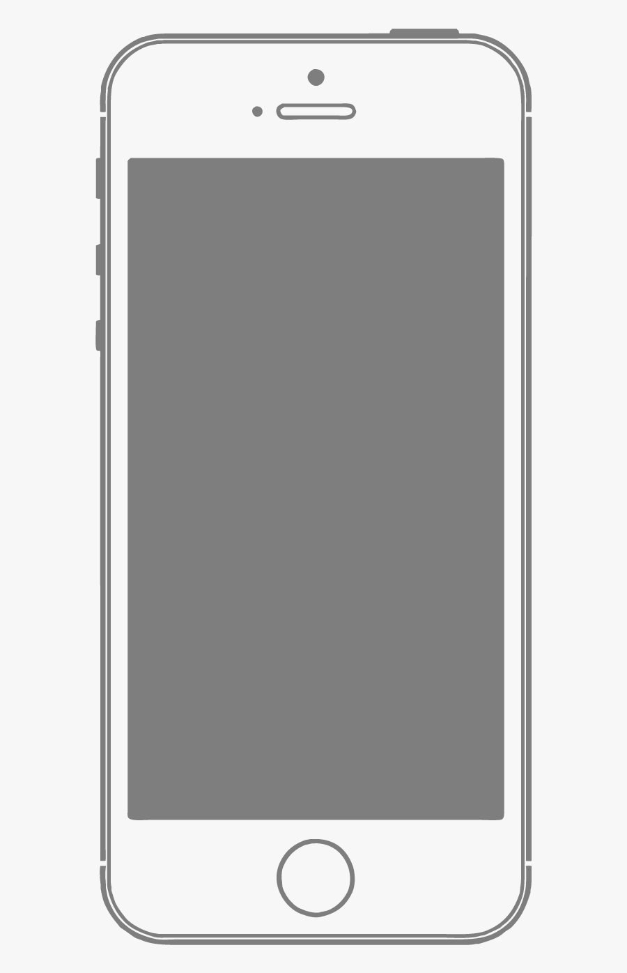 Smartphone Mobile Frame Material Feature Phone Vector - Vector Png White Smartphone, Transparent Clipart