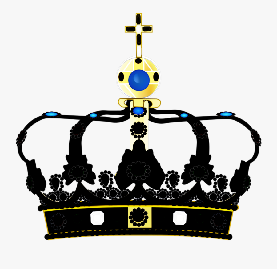 #crown #black #royal #vintage #king #queen #jewels, Transparent Clipart