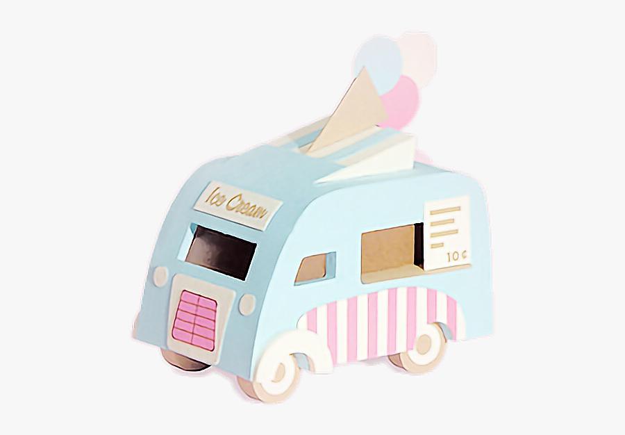 Icecream Truck💕 - Pastel Aesthetic Ice Cream Truck, Transparent Clipart