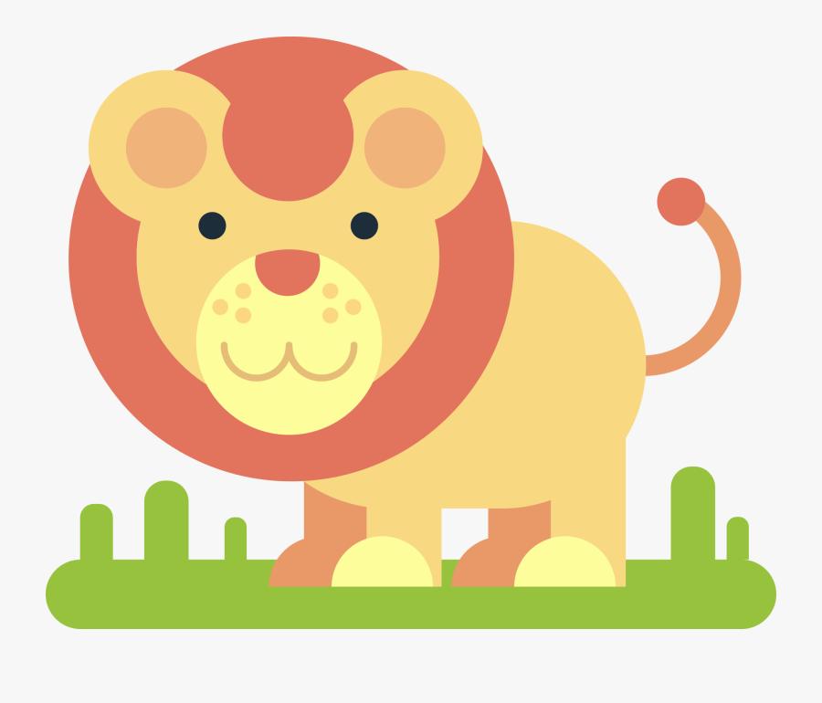 Lion, Animal, Comic Drawing, Simply, Minimalist, Funny - Zoo Animal Playdough Mats Printable, Transparent Clipart