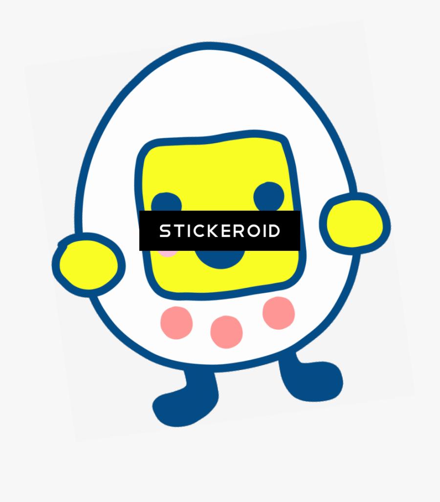 Egg Shaped Tamagotchi Clipart , Png Download, Transparent Clipart