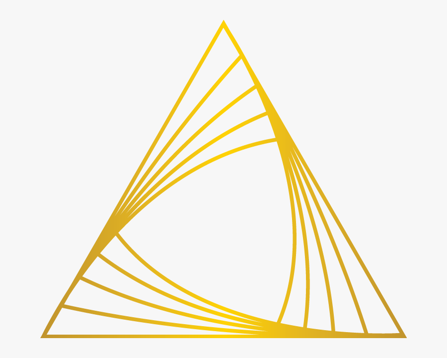 Gold Triangle Png - Triangle Golden, Transparent Clipart