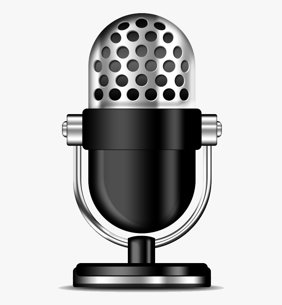 Microphone Clipart Radio Station Microphone - Radio Microphone Png, Transparent Clipart