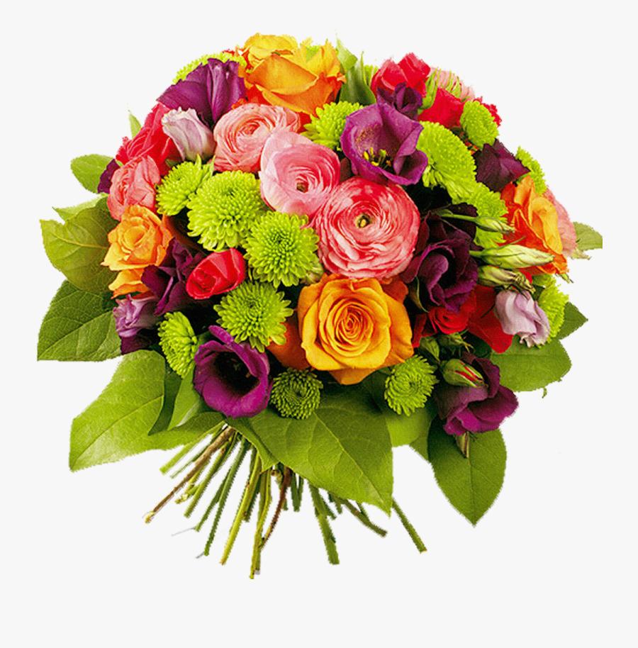 Bouquet Of Flowers Png Image - Женщина Гифки С Днем Рождения, Transparent Clipart