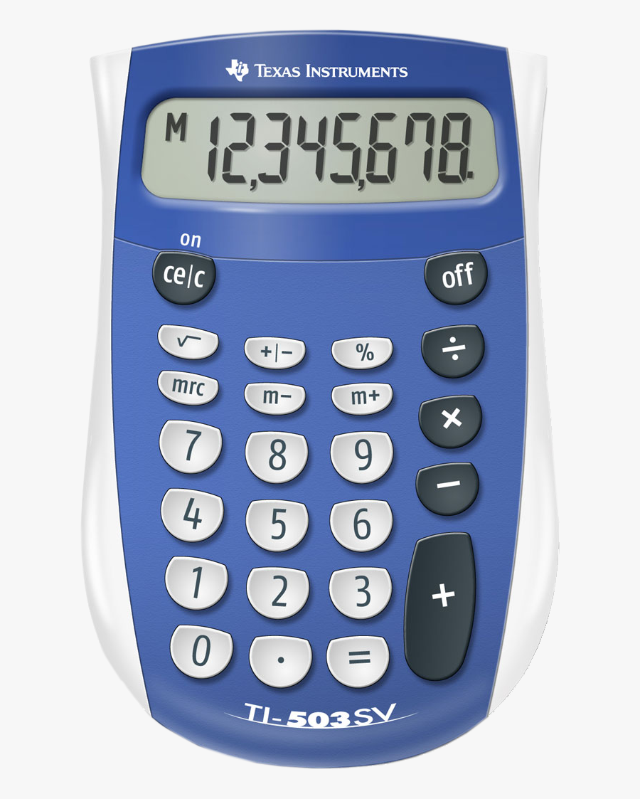 Four Function Calculator Without Square Root, Transparent Clipart