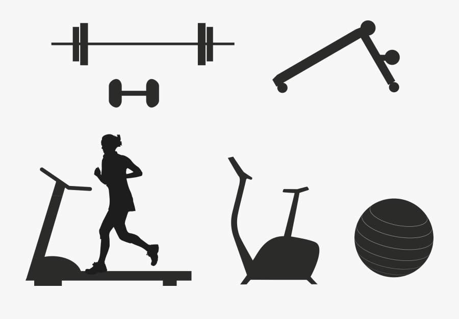 Gym Equipments Png Image Black And White Fitness Equipment Free Transparent Clipart Clipartkey