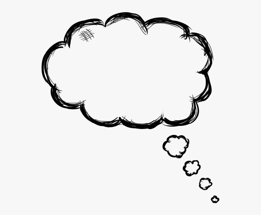 Transparent Idea Bubble Clipart - Thought Bubble Png Drawn, Transparent Clipart
