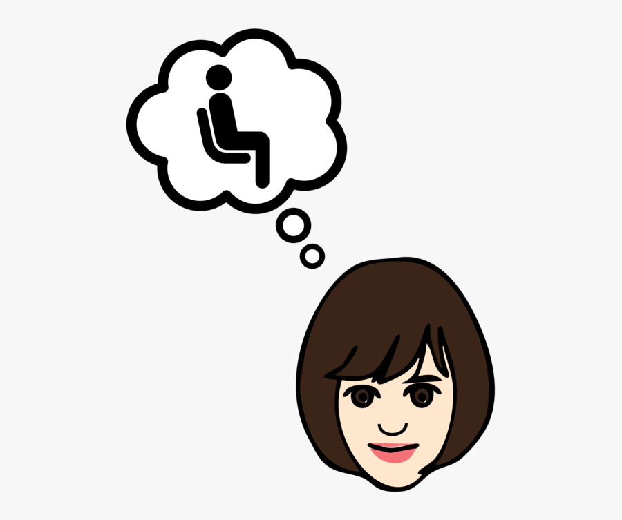 Emotion,human Behavior,head - Thought Bubble Pdf, Transparent Clipart
