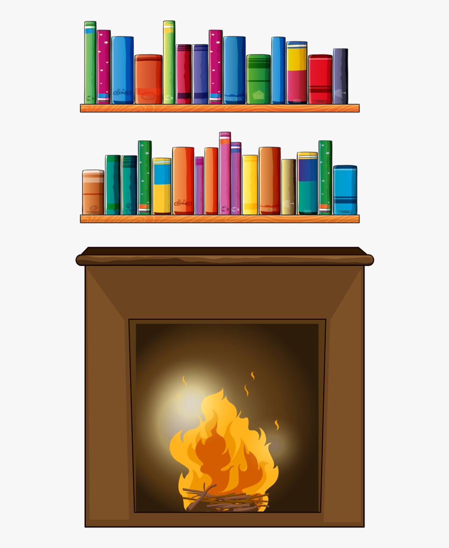 Boy Reading Book In Library Cartoon, Transparent Clipart