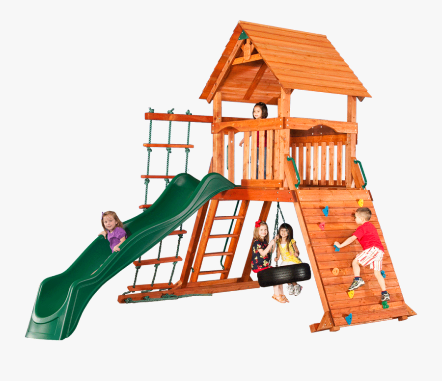 Sequoia Climbing Frame With - Fort Play Clipart, Transparent Clipart