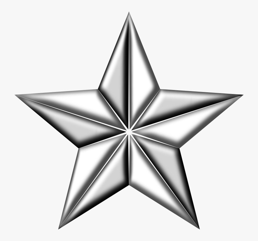 3d Silver Star Png Clipart , Png Download - Silver Star Png, Transparent Clipart
