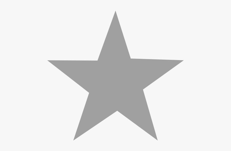 Silver Star Clip Art - Transparent Background Gray Star, Transparent Clipart