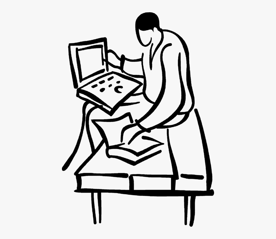 Notebook Drawing Student - Sitting, Transparent Clipart