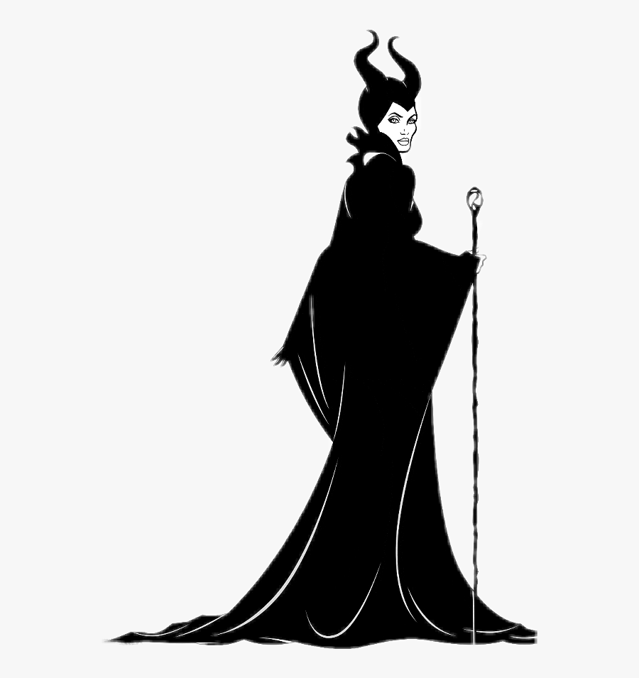 #wicked #maleficent - Cartoon Black And White Maleficent, Transparent Clipart