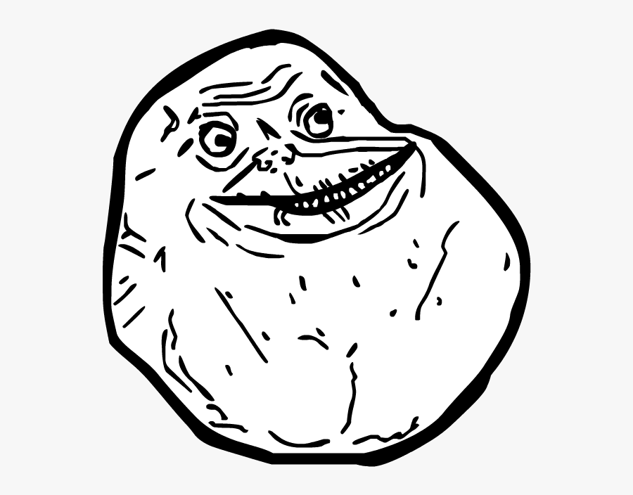 Clipart Royalty Free Download Known By Me Forever Alone - Troll Face Forever Alone, Transparent Clipart