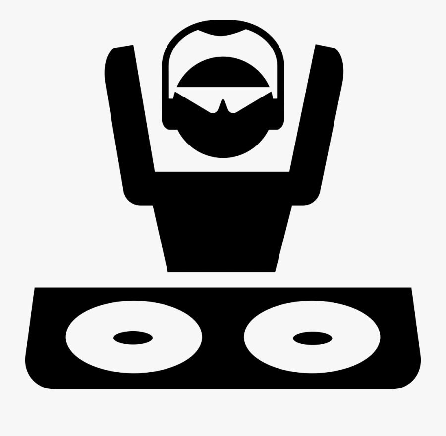 Disc Jockey With Shades And Headphones At - Dj Booth Clip Art, Transparent Clipart
