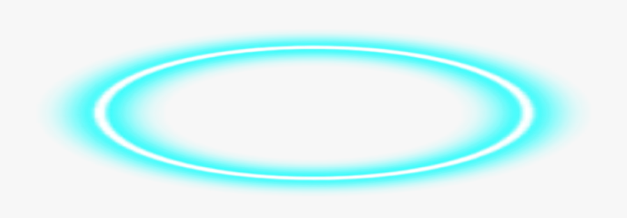 #angel #halo #blue #bluehalo #angelhalo #neon #neonblue - Angel Halo Blue Png, Transparent Clipart