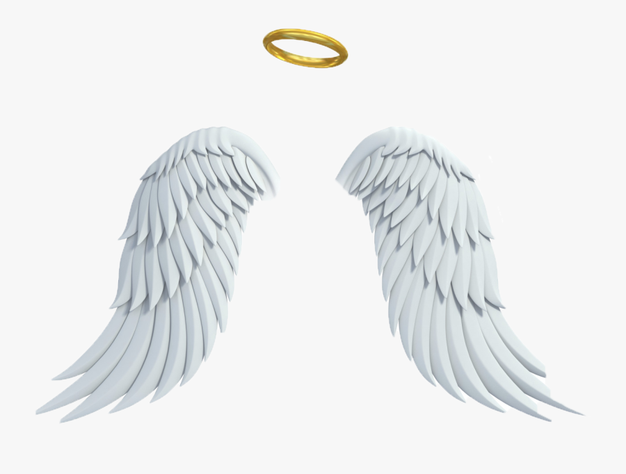 Transparent Halo Png - Real Angel Wings And Halo, Transparent Clipart