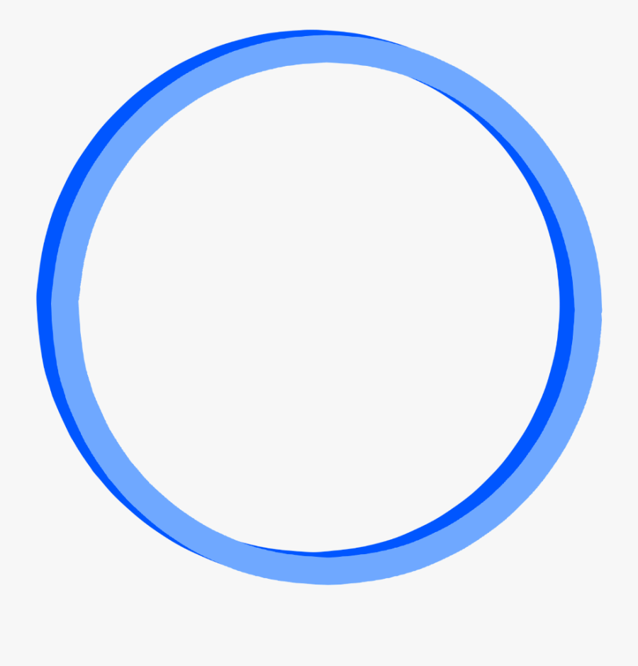 #frame #round #border #blue #freetoedit #ftestickers - Circle, Transparent Clipart
