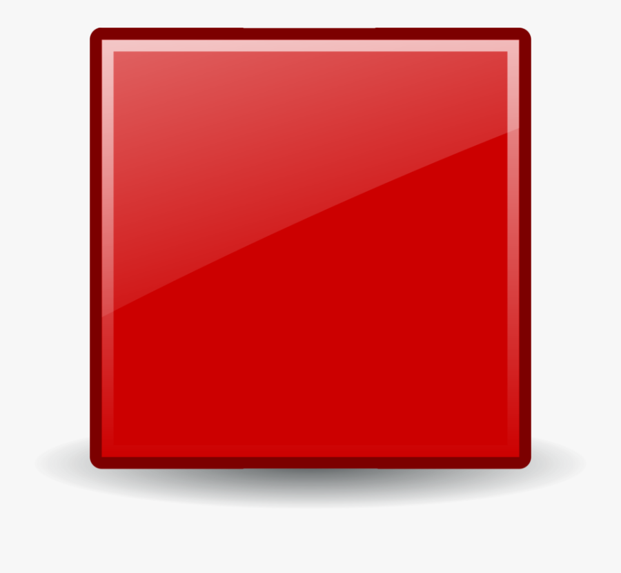Square,angle,red - Push Button Square Icon, Transparent Clipart