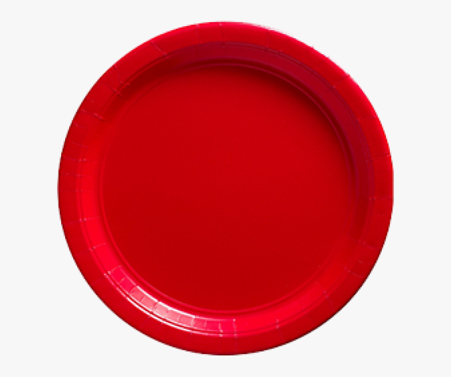 Apple Red Paper Dinner Plates 20ct - Circle, Transparent Clipart