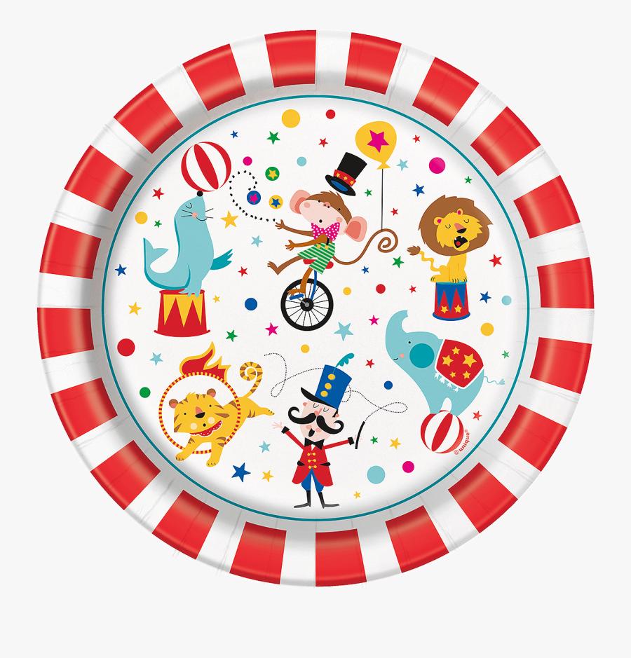 Carnival Circus Paper Plates - Circus De L Angelo Προσκλητηριο, Transparent Clipart