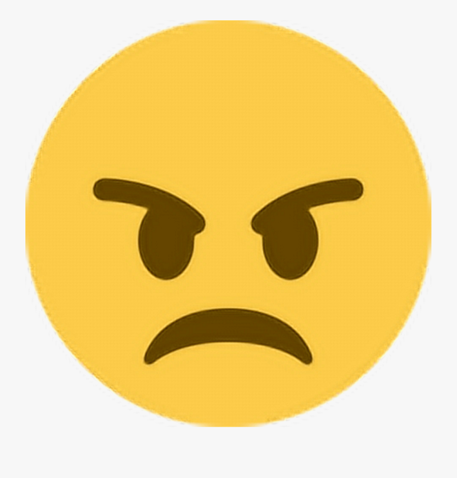 Mad Clipart Unhappy Customer - Angry Emoji Twitter, Transparent Clipart