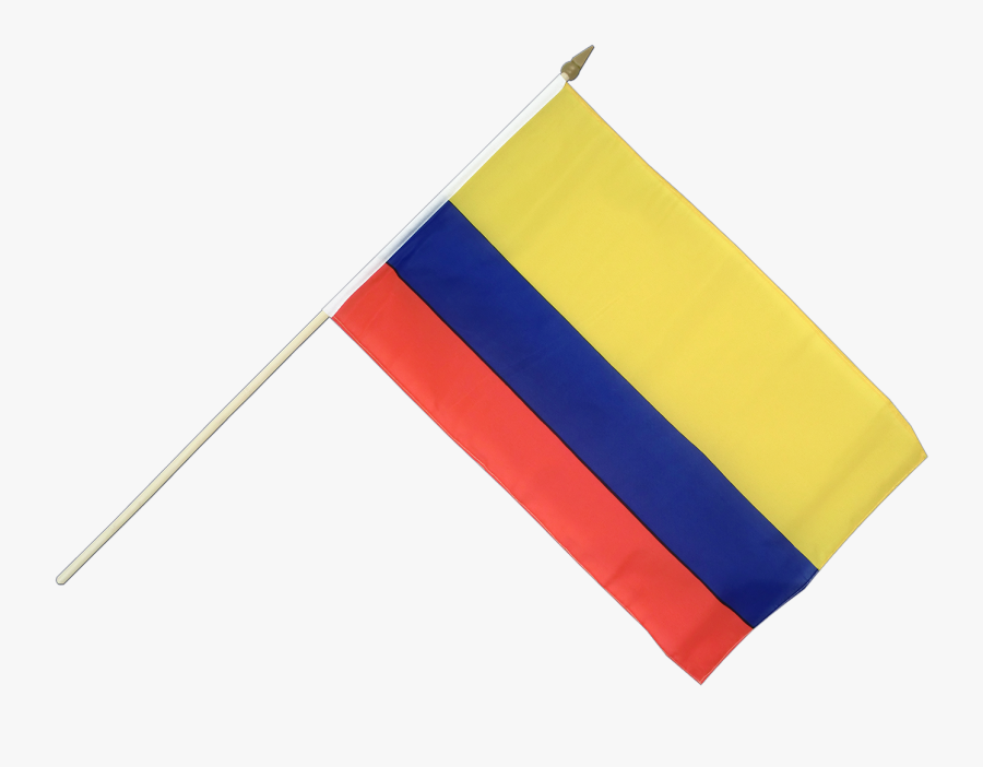 Colombian Flag Png - Colombian Flag On Stick, Transparent Clipart