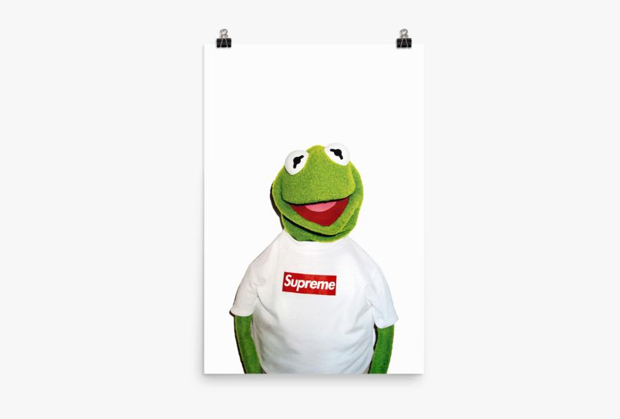 Transparent Supreme Kermit The Frog - Supreme X Kermit Poster, Transparent Clipart